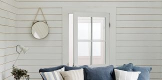 #shiplap Lincoln Bedroom